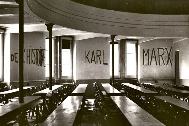 Graffito in University of Lyon classroom during student revolt of 1968 Image public domain