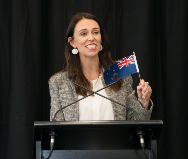 Jacinda Ardern in Dunedin Image Ministry of Justice