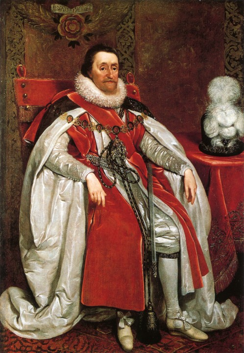James I of England by Daniel Mytens Image public domain