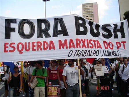 Marxist Left of the PT on recent anti-Bush rally in Sao Paulo