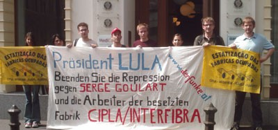 Report of picket in Vienna in solidarity with CIPLA workers