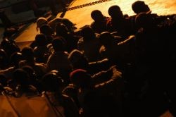 Migrants on their way to Lampedusa. Photo: Sara Prestianni
