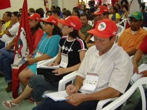 Delegates from MST (landless peasants movement)