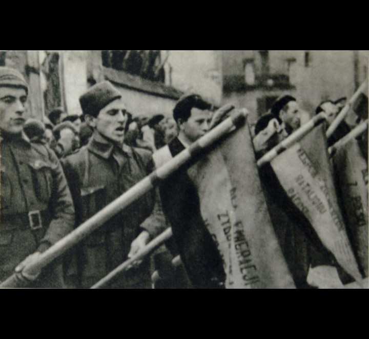 Polish volunteers of the International Brigades.