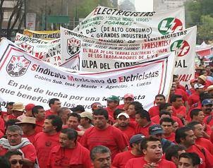 Mexico: Support electricity workers of the Luz y Fuerza del Centro