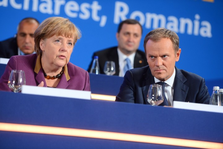 Tusk and Merkel Image Flickr Donald Tusk