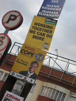 Election Posters in the April 2009 South African Elections. Photo by Jeppestown on flickr.