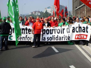 Demonstration in Lieges