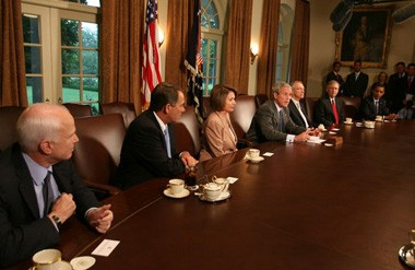 President Bush meets with Congressional members