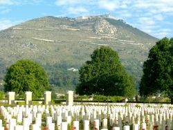 The British war cemetary in Cassino