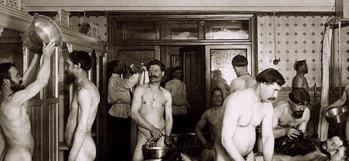 Egorov bathhouse in Saint Petersburg Russia about 1910 Image public domain