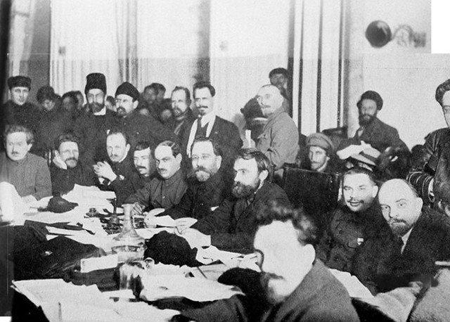 Russian Communist Party Meeting commons.wikimedia.org wiki FileCOLONPresidium of the 9th Congress of the Russian Communist Party Bolsheviks