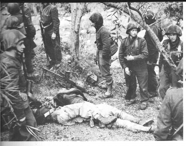 French soldiers killing algerian rebels 1954 Public Domain