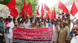 ptudc-hyderabad-protest-against-assasination-attemp-on-riaz-lund