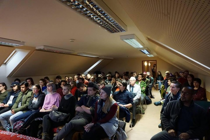 Packed room at the Karl Marx seminar / Image: own work