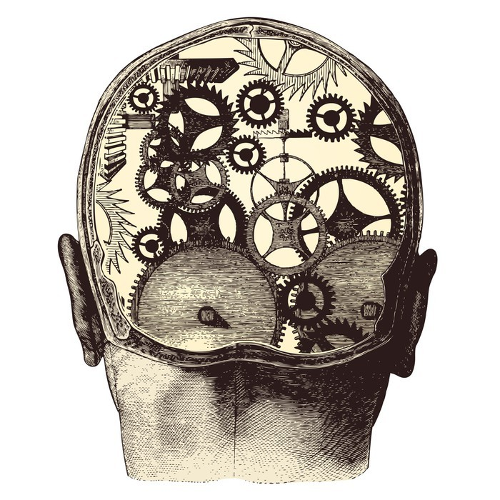 Clockwork brain Image public domain