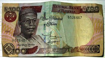 The Nigerian currency (Naira) has started its free fall (Photo by Danny McL on flickr)