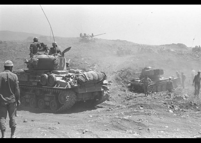 Israeli tanks Golan Heights 1967 cred Government Press Office Israel
