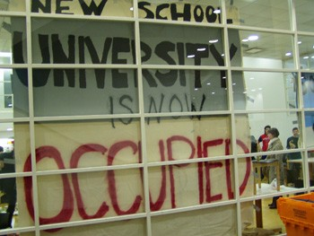 Students Occupy the New School!
