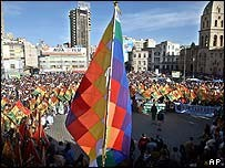 Massive demonstration in Bolivia