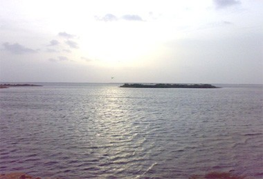 A view of Lake Keenjhar