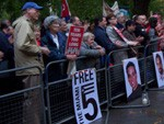 Report of vigil for Cuban Five in London