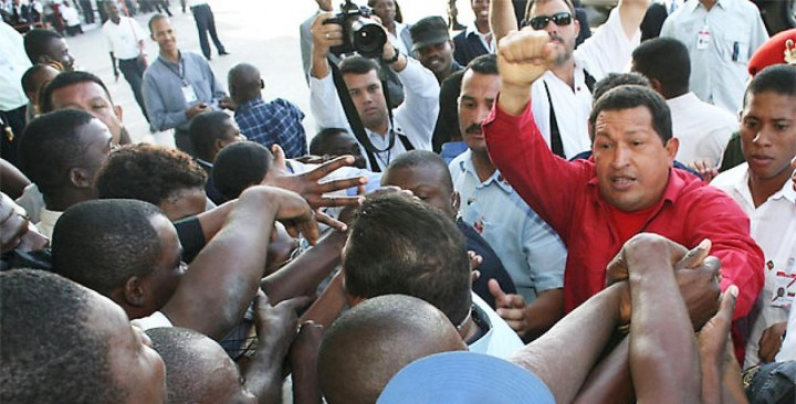 chavez in haiti march 2007 Image public domain