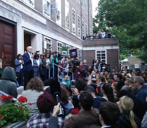 Corbyn SOAS rally. Photo: Socialist Appeal