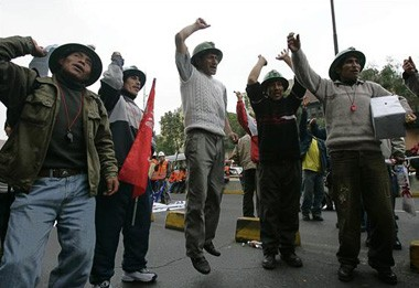 National strike in Peru