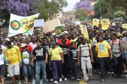 ANC Youth League NEC members at the front