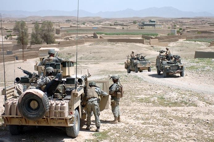 British and US soldiers in Afghanistan.