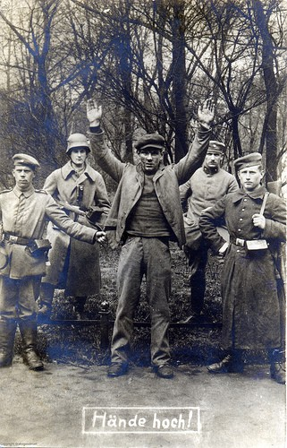 A Spartacist arrested by the reactionaries in 1919