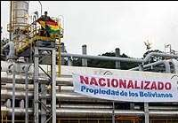 Bolivian government takes back control of hydrocarbons