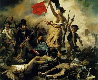 Delacroix' Liberty on the barricades