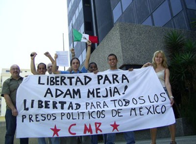 Pickets of Mexican Embassies worldwide for the release of all political prisoners