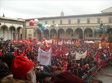 General strike march in Florence (Photo by CGIL)