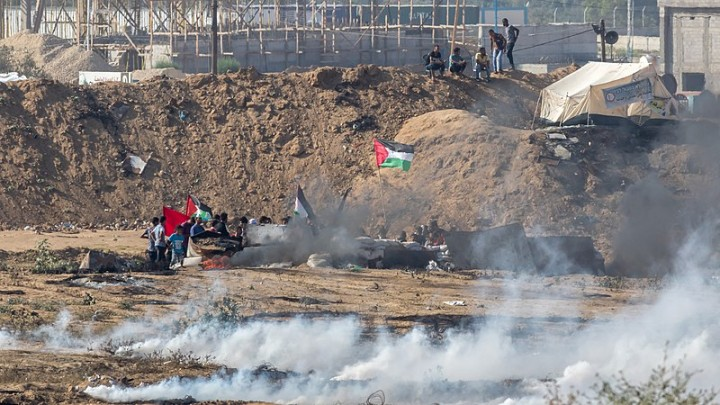 Gaza border protest Image מינוזיג MinoZig