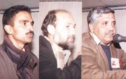 Some of the speakers, with Lal Khan on the right