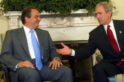 Kostas Karamanlis and George W Bush