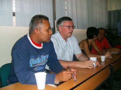 Leaders of the PSUV meet Alan Woods and CMR