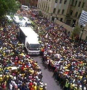 Marchers in Sandton