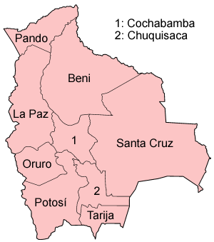 Departments of Bolivia