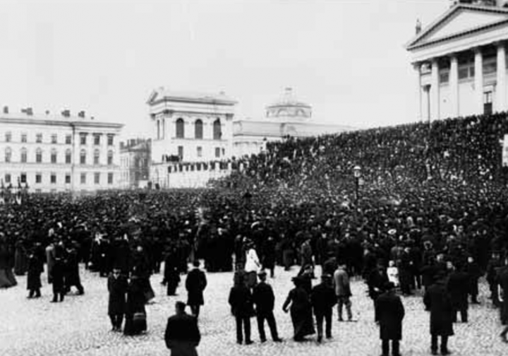 General strike 1905 Helsinki Image National Board of Antiquities Archives for Prints and Photographs