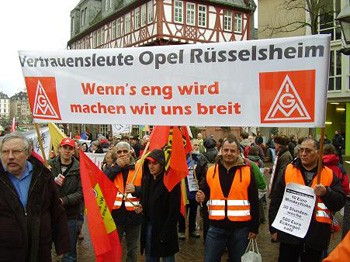 Shop stewards from Opel in Rüsselsheim