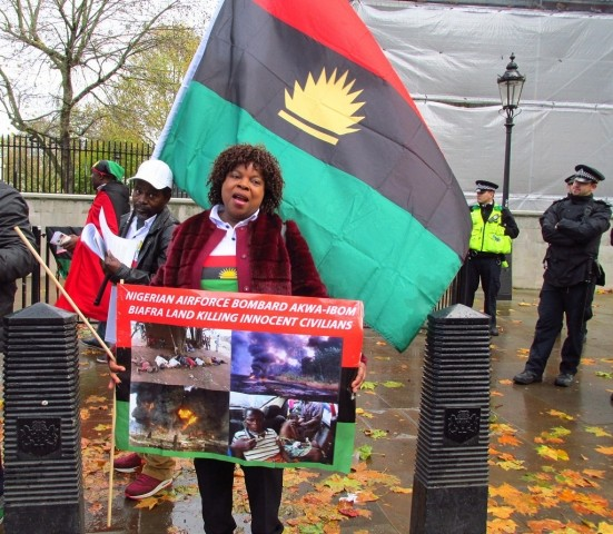 Biafran solidarity protest London