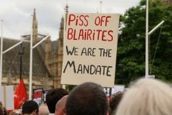 Piss off Blairites. Photo: Socialist Appeal