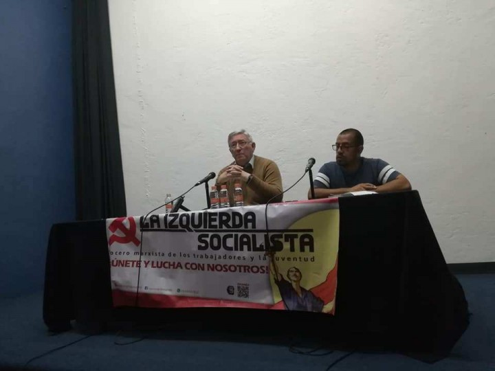 The topic was almost unknown in Meixco and as such was fascinating for the mostly young attendees Image la Izquierda Socialista