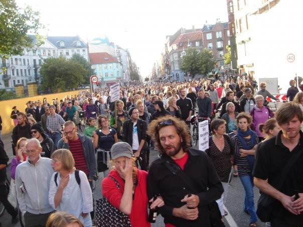 Copenhagen: big protests against racist policies and police brutality, August 13, 2009