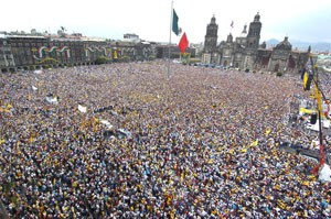 Mass movement in Mexico City against electoral fraud in 2006