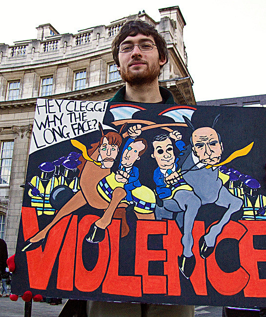Student's take on violence Photo: Chris Beckett